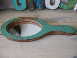 Scrapwood handspiegel oval nr . 1