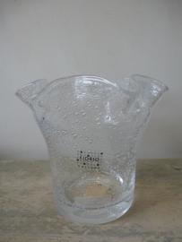 Fidrio wave vaas mini, helder met bubbel