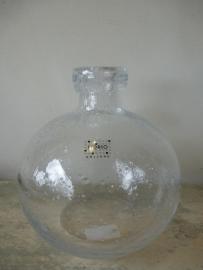 Fidrio glazen bolvaas groot helder met bubbel