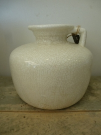 Jug domestic crackle white