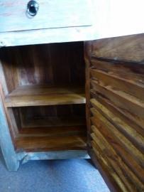 teak houten kastje met la