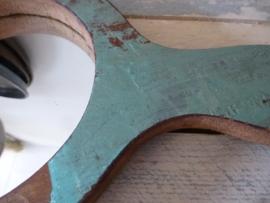 Scrapwood handspiegel rond nr . 2