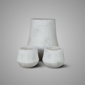 PLANTER ANTIQUE WHITE L