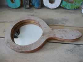 Scrapwood handspiegel rond nr . 3
