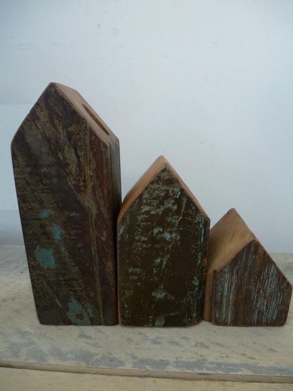 Scrapwood kandelaren set nr. 2, Otentic design