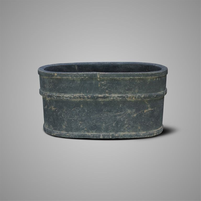 PLANTER OVAL TWO LINES LUXURY MAJESTIC VINTAGE M 40X22X21