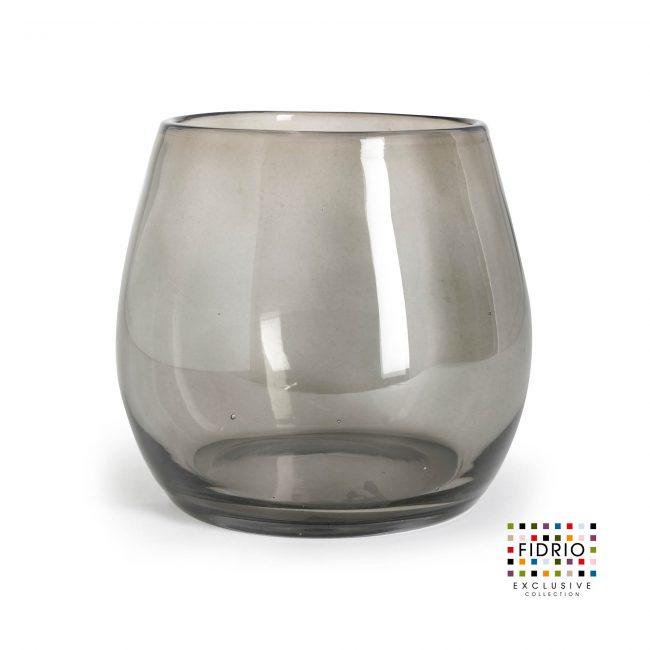 FIDRIO Vase Fiore Transparant Black