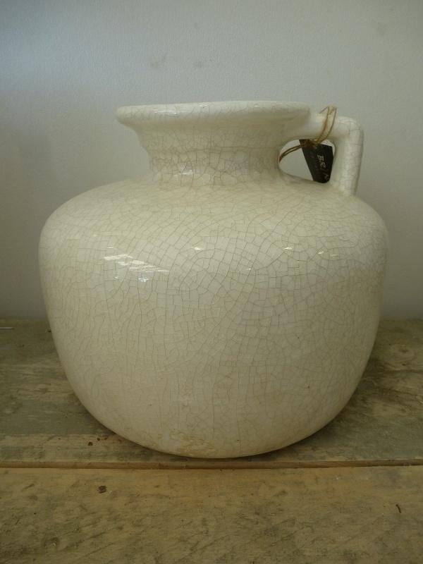 Jug domestic crackle white