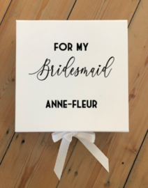 GIFTBOX - FOR MY BRIDESMAID + NAAM -