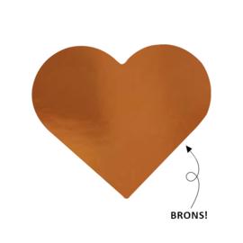 Brons sluitzegel hart - 10 stuks -