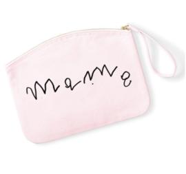 Make-up tas - Mama - Handgeschreven tekst kindje - ronde tas