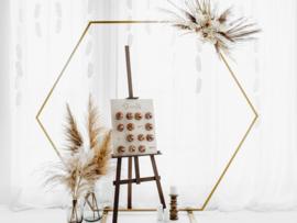 Gouden Hexagon Backdrop ( Huur)