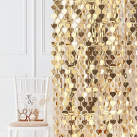 Heart Backdrop Gold - Gold Wedding - Ginger Ray