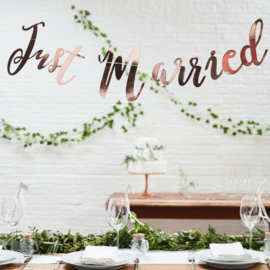 Just Married slinger roségoud Beautiful Botanics Ginger Ray