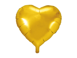 Folieballon Hart - 45 cm- 18 inch - Goud