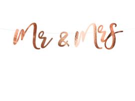 Mr & Mrs banner Roségoud