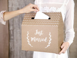 Enveloppendoos Just Married kraft