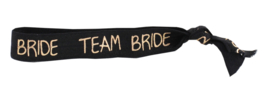 HAARELASTIEK TEAM BRIDE - ZWART -