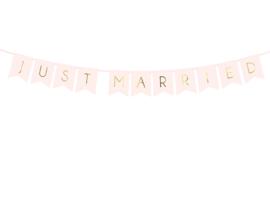 Just Married slinger Roze met gouden letters (p.d)