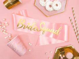 Bridesquad Sash Roze met gouden opdruk