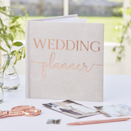 Weddingplanner boek - Grijs Suede - Ginger Ray