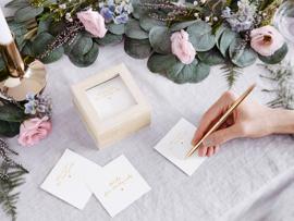 Bruiloft Advies Kaarten - Wedding Advice Cards - Gastenboek -Houten Box