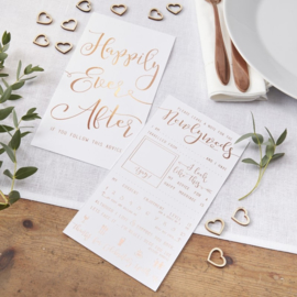 Advice Cards Newlyweds - Invulkaarten Bruiloft