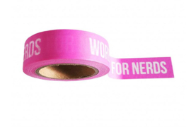 WASHI TAPE - WORDS ARE FOR NERDS