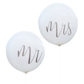MEGA BALLONNEN MR & MRS (2 STUKS) RUSTIC COUNTRY GINGER RAY