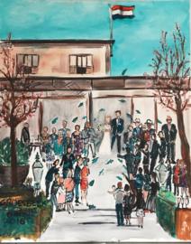 Live paint op je bruiloft
