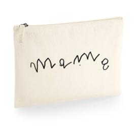 Make-up tas - Mama - Handgeschreven tekst kindje - rechthoekige tas