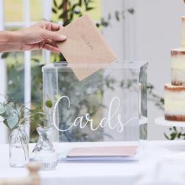 Acryl Enveloppendoos Cards