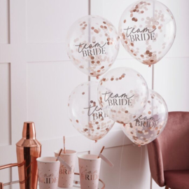 Team Bride ballonnen set met confetti