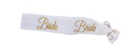 HAARELASTIEK BRIDE - WIT MET GOUD -