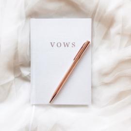 Gelofte Boekje 'Vows' Minimalistic Linnen