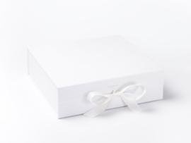 Giftbox zonder bedrukking Wit Maat L