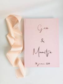 Photobooth Gastenboek Roze | 50 pagina's
