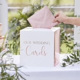 Enveloppendoos RoséGoud - Our Wedding Cards - Ginger Ray