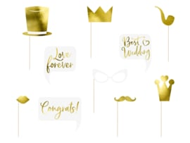 Wedding Party Props Gold ( 8 stuks)