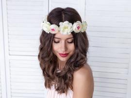 Bloemenkrans - Floral Crown - Wit