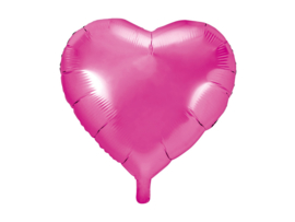 Folieballon Hart - 45 cm- 18 inch - fuchsia