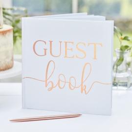 Wit met Rose-goud -  Gastenboek  - Ginger Ray