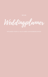Weddingplannerboek A5 -XS Versie -  Roze Linnen cover