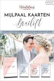 Mijlpaalkaarten bruiloft - Nederlands -  Milestone cards