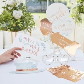 photobooth props personaliseerbaar - koper - ginger ray