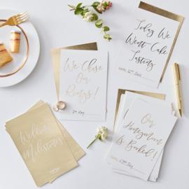 Milestone cards Wedding - Engelstalig -