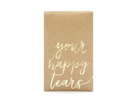 Happy Tears zakjes -  Gold -  kraft - 10 stuks