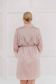 Kimono Bride / Bruid Blush met kant