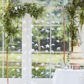 Backdrop Witte Origami Bloemen - Ginger Ray