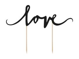 Love - Caketopper - Zwart